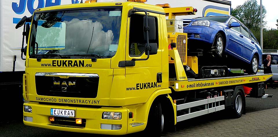 <b>EUKRAN</b>-  specjalistyczne zabudowy hydraulicznne do samochodów Pomocy Drogowej.
